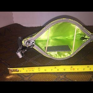 Express Bags - Neon green snakeskin print wristlet by Express